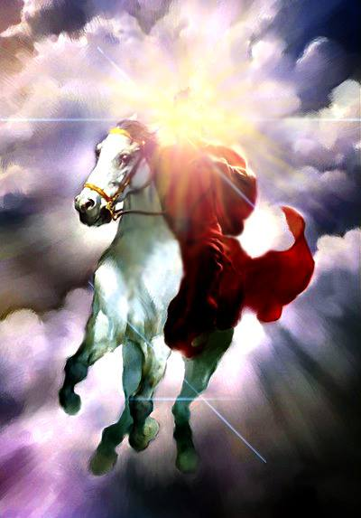 Jėzus, baltas žirgas