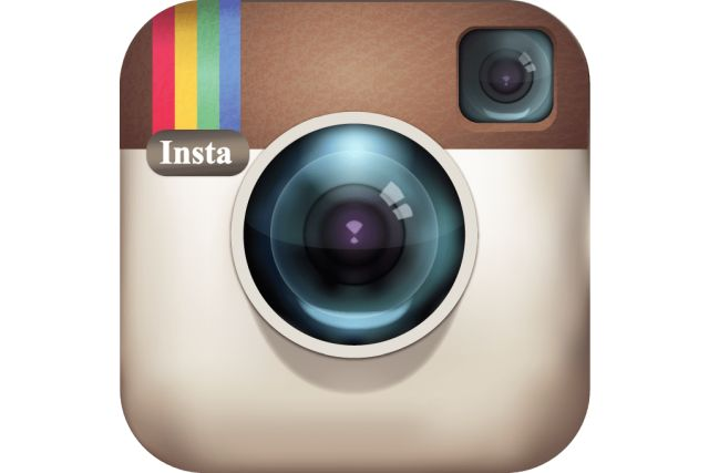 Instagram senas logotipas